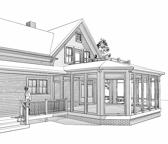 Drawing Deer Isle Farm House